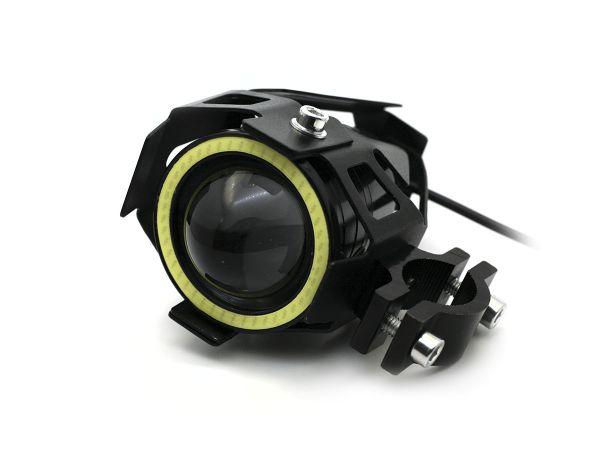 Светодиодная круглая фара для мотоцикла U7 с креплением на трубу