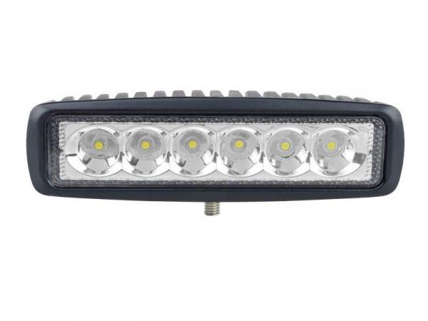Прямоугольная cветодиодная LED фара рабочего света жёлтая 18W Epistar