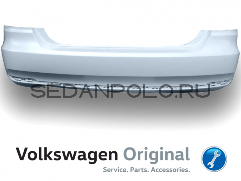 Бампер задний VAG Volkswagen Polo Sedan 2015 Рестайлинг