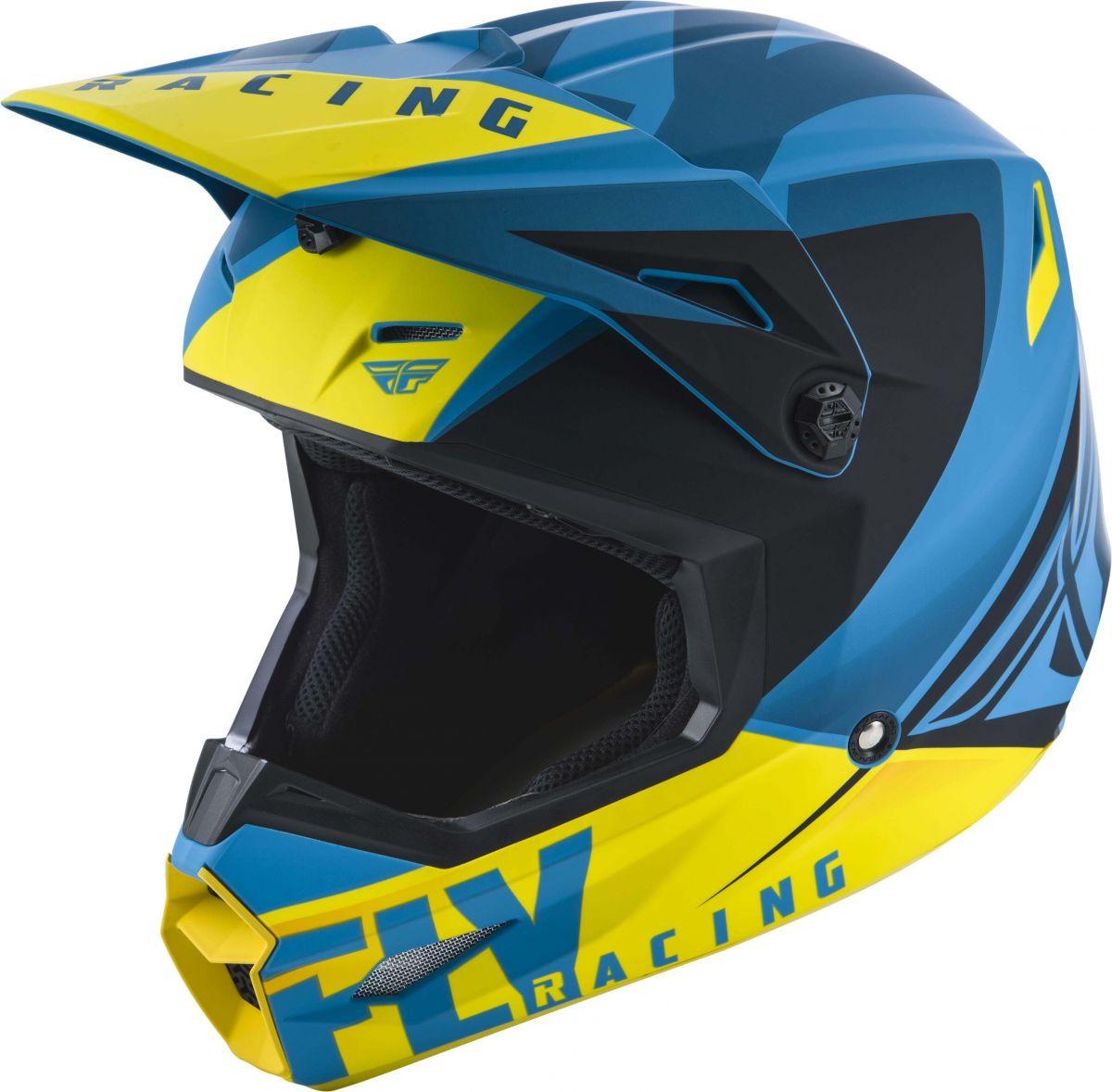 Fly - 2019 Elite Vigilant Blue/Black шлем, сине-черно-желтый