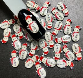 Металлические украшения для ногтей 3D Снеговик ( 3шт.)