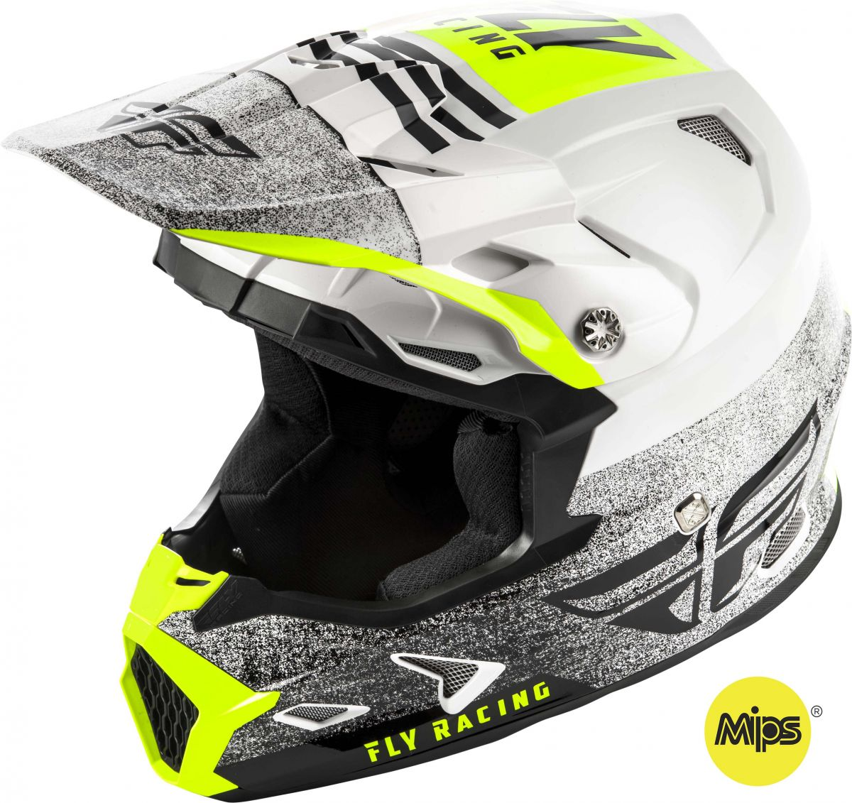 Fly - 2019 Toxin MIPS Embargo White/Black шлем, бело-черный