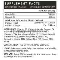Витамин D3 5000 I.U. в капсулах Инлайф | INLIFE Vitamin D3 5000 IU Supplement