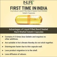 Рыбий жир Омега-3 (двойная сила) в капсулах Инлайф   INLIFE Fish Oil Omega 3 fatty acids (Double Strength) Supplement