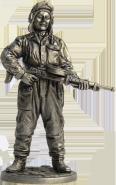 Танкист, стрелок-радист с пулемётом ДТ. 1943-45 гг. СССР (олово)
