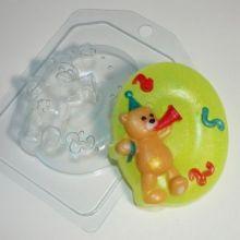 Форма для мыла Цифры/0 с мишкой