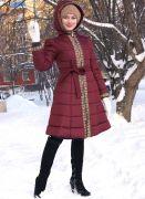 длинное женское теплое пальто