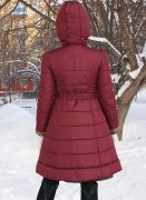 стеганное зимнее пальто