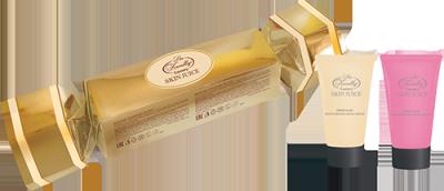 Парфюмерно-косметический подарочный набор Liss Kroully Skin juice Конфета (Крем для рук питательный 75 мл + Spa-маска для рук 75 мл)