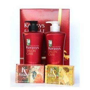 Подарочный набор Салон Кэр Объем №6 (шамп 470гр + конд 470гр + мыло 2шт + подарочная коробка)/ 4шт.в кор.