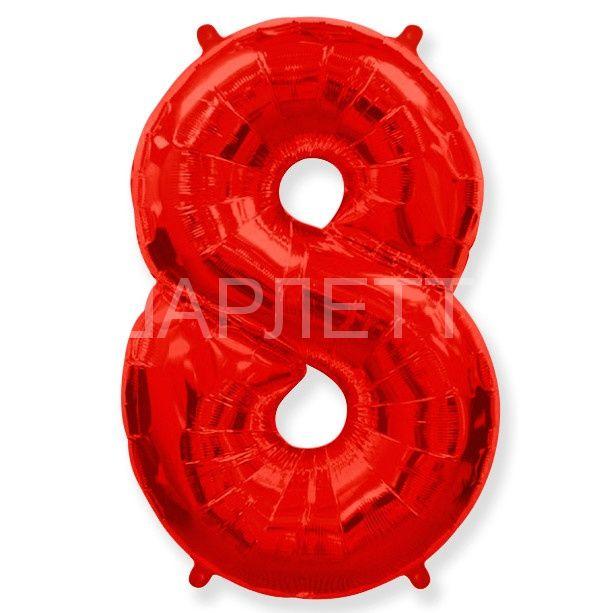 """Цифра """"8"""" красный"""