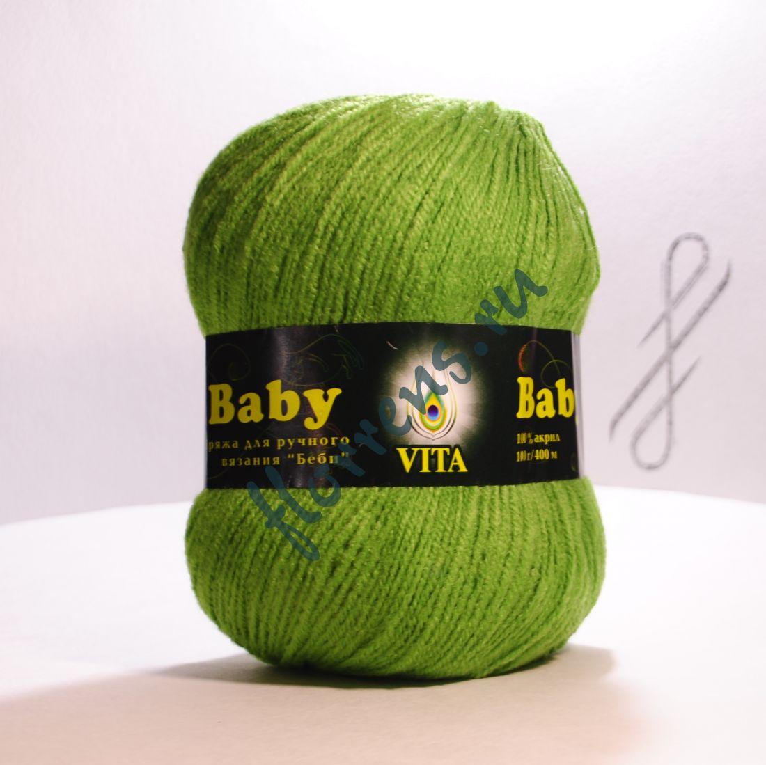 Пряжа Baby / 2861 зеленое яблоко
