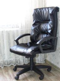 Кресло руководителя Форт 5(15) черный кожзам