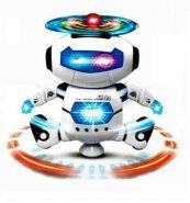 Танцующий робот, (музыка, свет, движения).