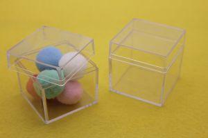 Коробка с крышкой, акрил, 5см (1уп = 5шт)