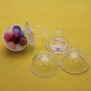 Соска декоративная разборная, акрил, 8*4см, цвет: прозрачный (1уп = 5шт)