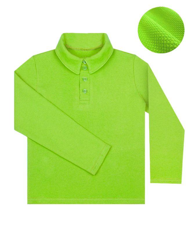 Рубашка-поло салатовый для мальчика