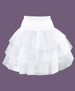 7808-ДН18 Белый подъябник под нарядные платья для девочки из фатина