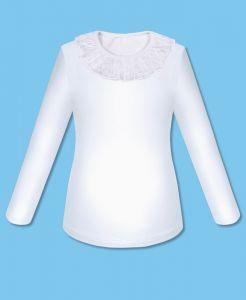 80211 Блузка белая для девочки с кружевом Радуга дети