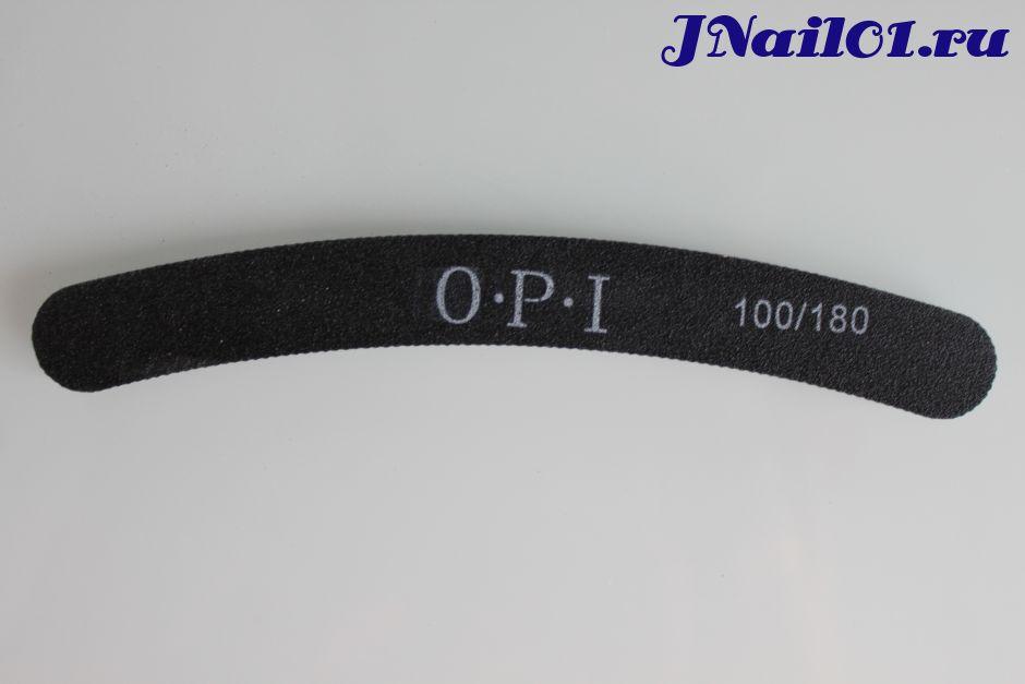 Пилка O.P.I Бумеранг для искусственных ногтей 100/180 грит Чёрный
