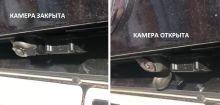 Защита от грязи штатной камеры заднего вида, а/м 2011-2015