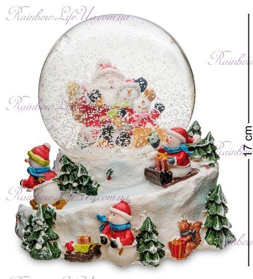 """Шар со снегом муз. с подсветкой """"Новогодние приключения"""""""