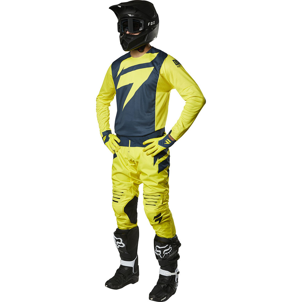 Shift - 2019 3Lack Label Mainline Yellow/Navy комплект джерси и штаны, желто-синий