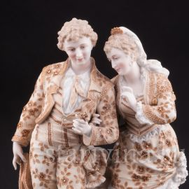 Пара в испанских костюмах, Volkstedt, Германия, кон. 19 века.