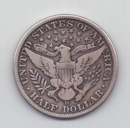 1/2 доллара 1911 года D редкий США
