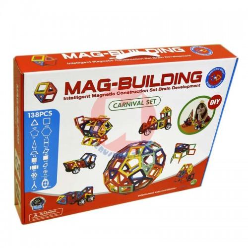 Магнитный конструктор 138 деталей