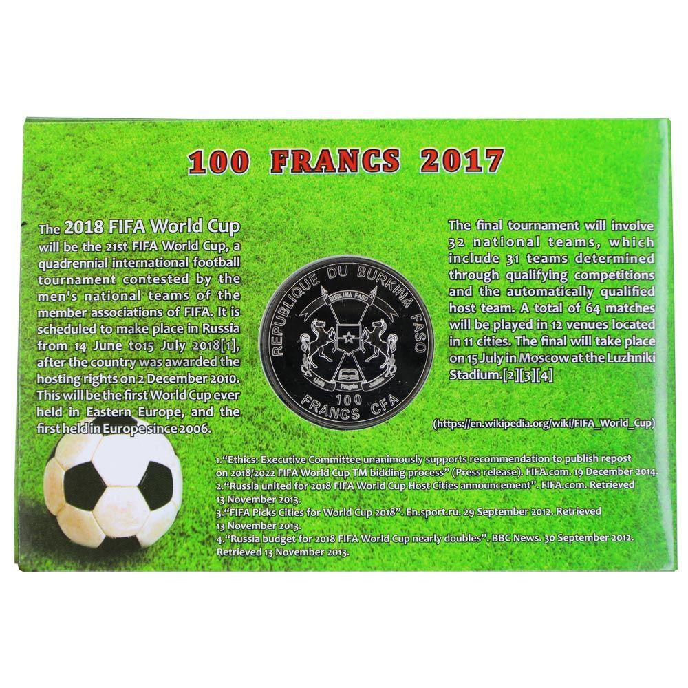 100 франков 2017 Буркина Фасо Волк Забивака