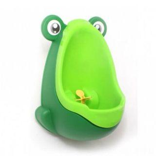 Писсуар для мальчиков с прицелом Лягушка, зеленый