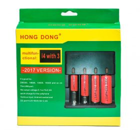 Универсальное зарядное устройство HONG DONG i4 with 3 для зарядки Li-on аккумуляторов 26650 18650 14500 16340