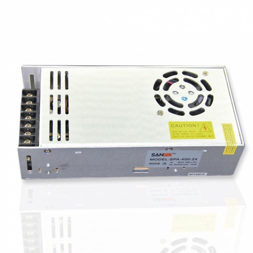 Блок питания EN-400-24 (24V, 400W, 16.7A, IP20) (светодиодные блоки питания)