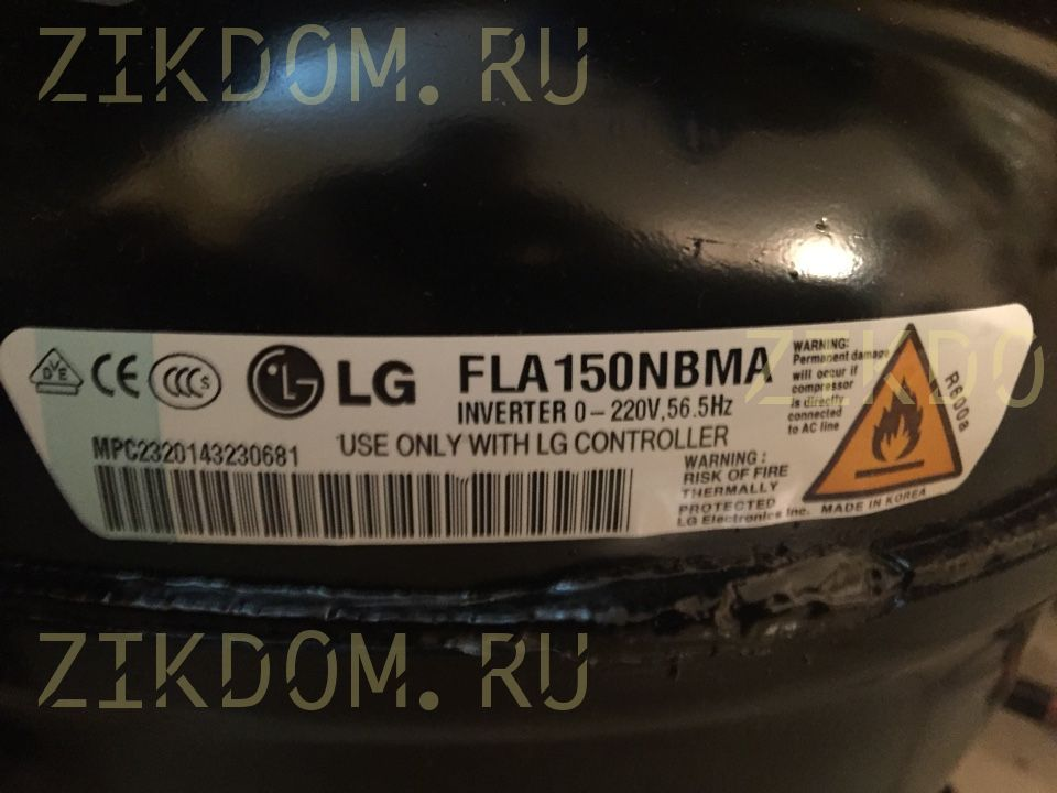 Компрессор для холодильника LG FLA150NBMA TCA35692201 INVERTER