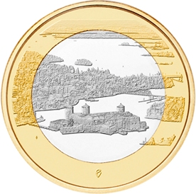 Крепость Олавинлинна и озеро Пихлаявеси  5 евро Финляндия 2018