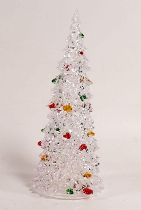 Светящаяся светодиодная ёлочка с шишками Marry Christmas 16 см.