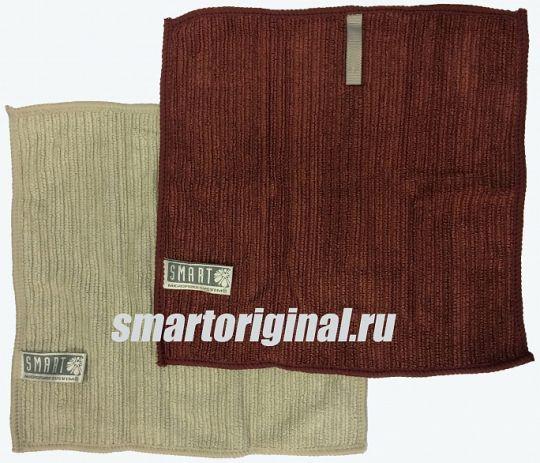 Smart Microfiber Салфетка ребристая 24 х 24 см серая/бордо 2 шт.