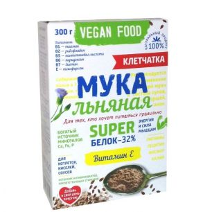 """""""Компас Здоровья"""" Мука льняная  Vegan Food  300 г"""