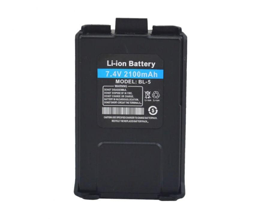 Усиленный аккумулятор BL-5L для рации Baofeng UV-5R  и DM-5R Plus (2100 мАч)