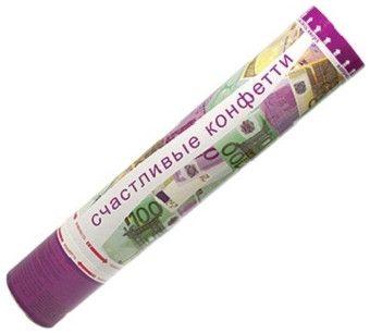 Хлопушка Happy Confetti в виде евро, 40 см