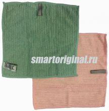 Smart Microfiber Салфетка ребристая 24 х 24 см розовая/морская волна 2 шт.