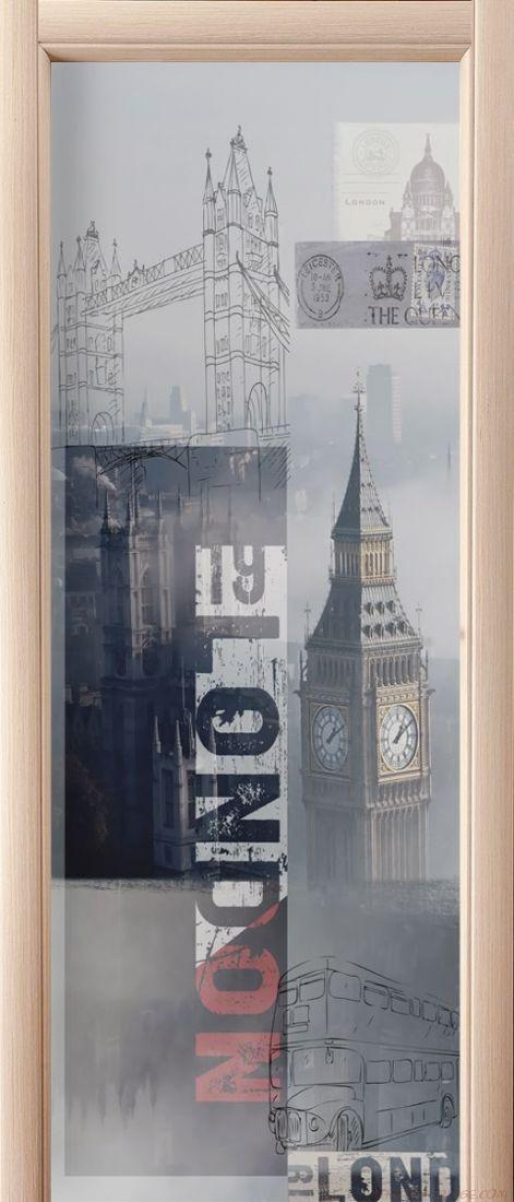 Наклейка  на дверь - Лондонский туман