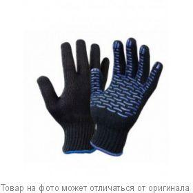 Перчатки Х/Б с пупыр. черные, шт