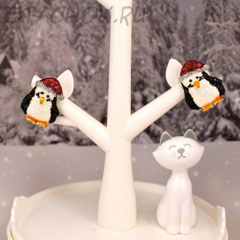 """Клипсы """"Новогодние пингвинчики"""" (Danecraft США)"""