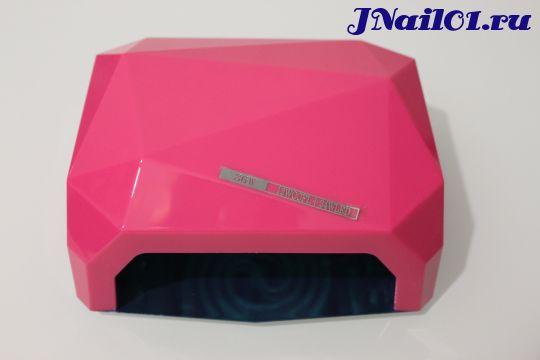 """UV-LED Лампа 36W """"Crystal""""  (10,20,30сек) Розовая"""