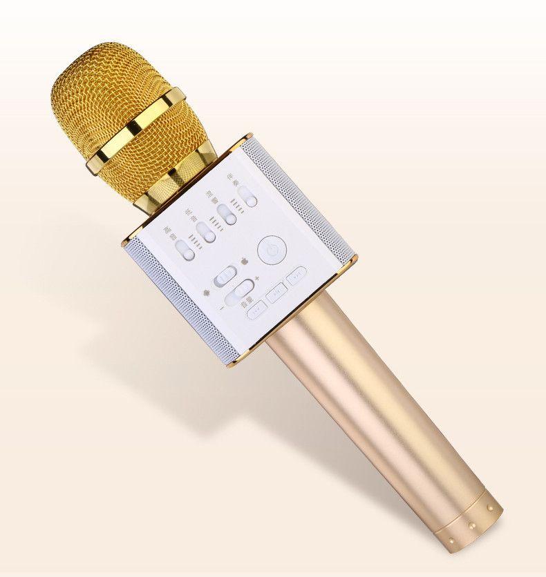 Micgeek Q9 беспроводной микрофон bluetooth , золото