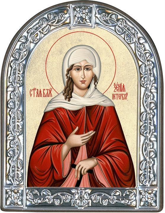 Икона Святая блаженная Ксения Петербургская (Греция)