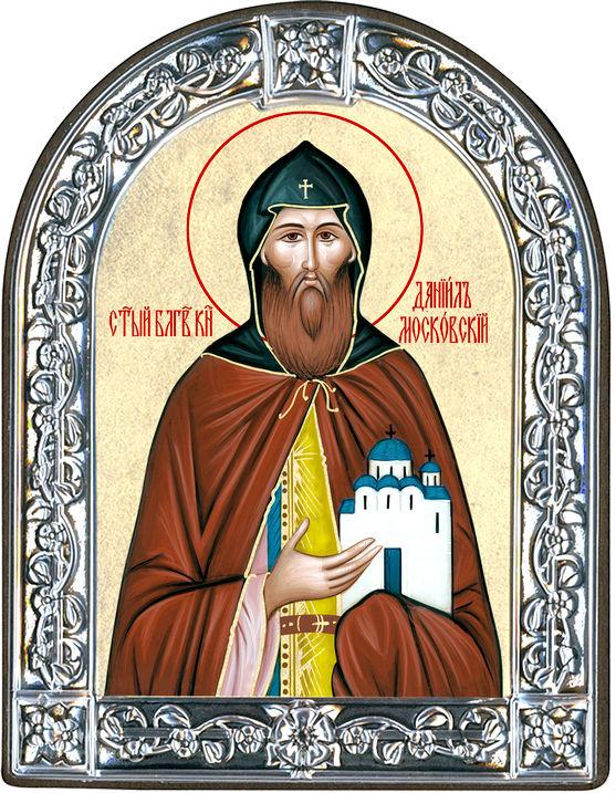 Икона Святой благоверный князь Даниил Московский (Греция, 13х10 см.)