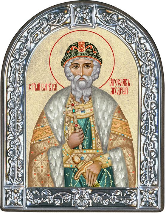 Икона Святой благоверный князь Ярослав Мудрый (Греция, 13х10 см.)